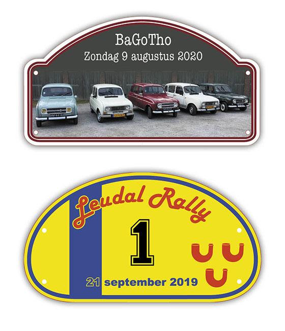 Rallybordjes voor elke rit